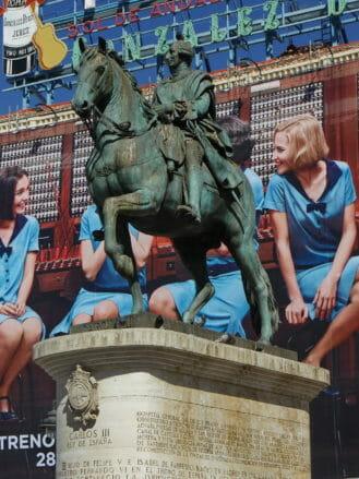 Reiterstandbild von König Carlos III. auf der Plaza del Sol in Madrid