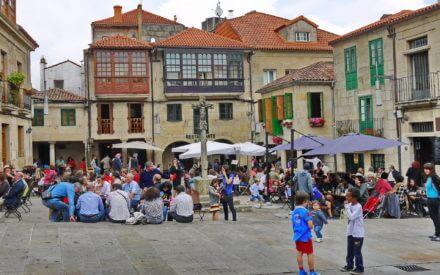 Die sehenswerte Provinzhauptstadt Pontevedra mit zahlreichen Sehenswürdigkeiten