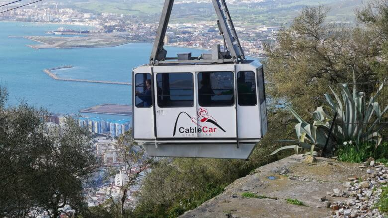 Cable Car am Felsen von Gibraltar