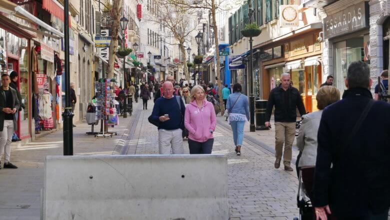 Die Main Street in Gibraltar City