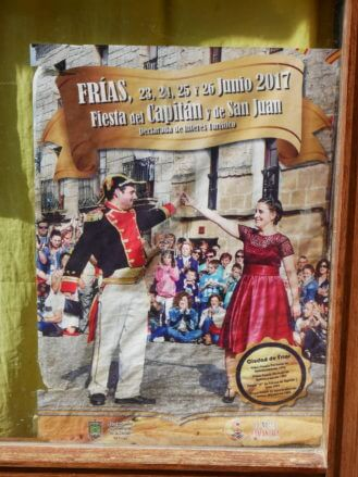 Plakat für das wichtigste Dorffest in Fías