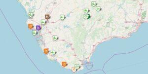 Cádiz Provinz Karte: Reiseziele und Reisetipps zu den sehenswerten Orten im Südwesten von Andalusien