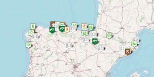 Sehenswürdigkeiten und sehenswerte Orte auf der Nordspanien Karte