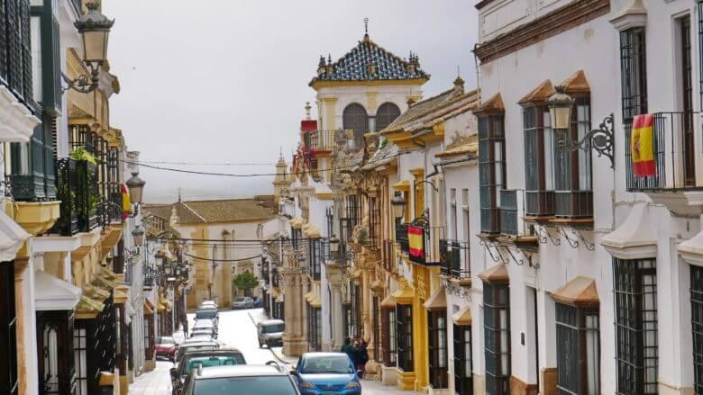 Paläste in der Calle San Pedro in Osuna