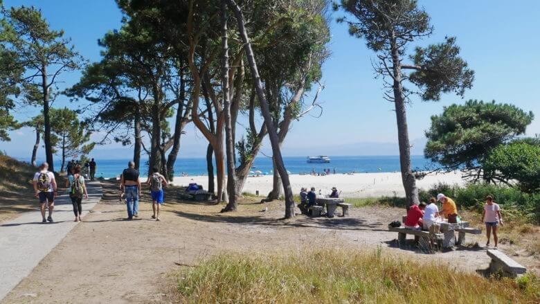 Picknick im Schatten auf Monteagudo