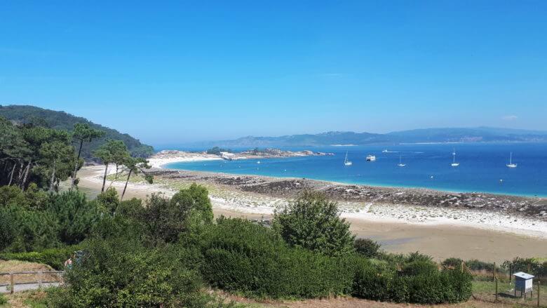Playa de Rodas auf den Illas Cíes