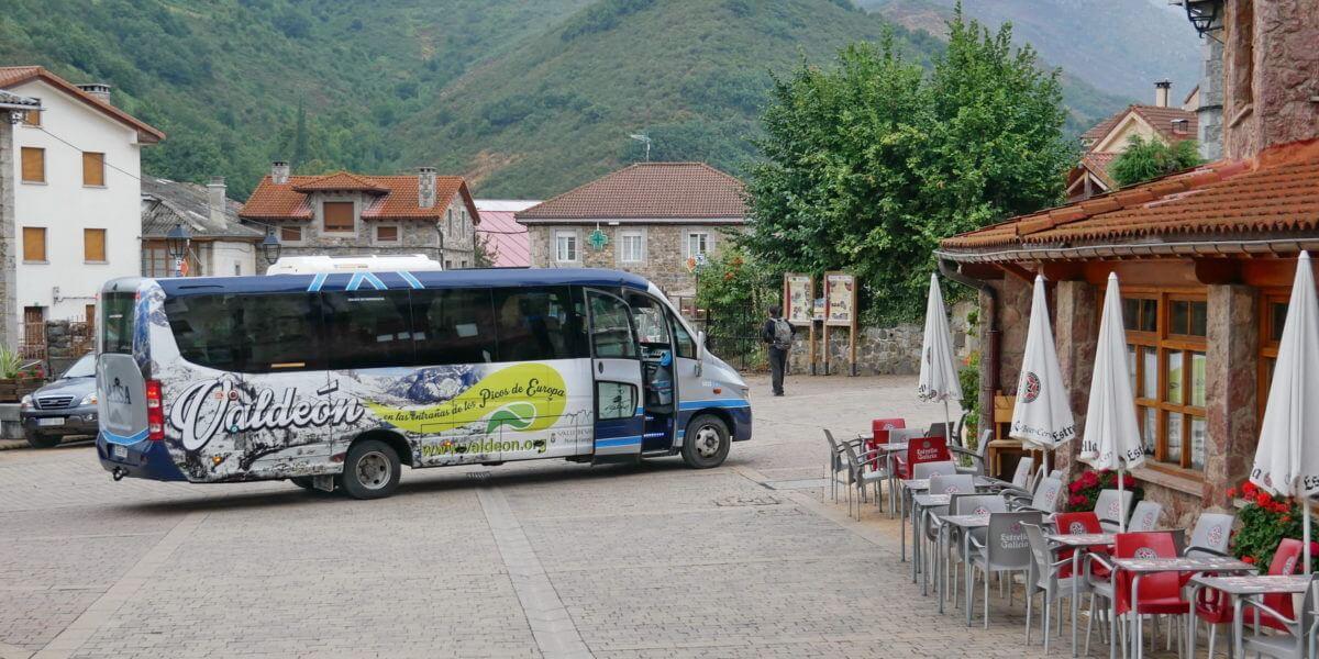 Posada de Valdeón, das Bergdorf in Picos ist ein Ausgangspunkt zum Wandern