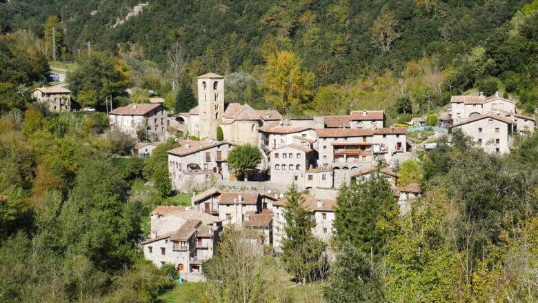Dorf Beget in den Pyrenäen