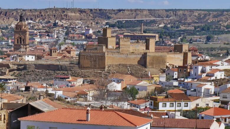 Die Alcazaba von Guadix