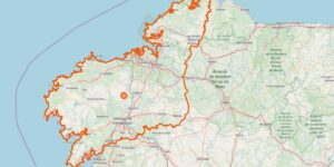 Karte A Coruña (Provinz)