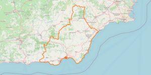 Almería Karte Provinz