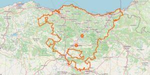 Baskenland Karte