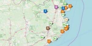 Girona / Costa Brava Karte