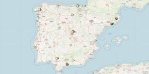Karte Spanien Städtereisen