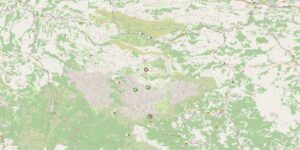 Karte der Picos de Europa