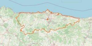 Asturien Karte