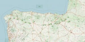 Jakobsweg Karte (Spanien)